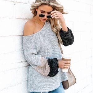 Vici striped knit sweater